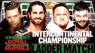 WWE Greatest Royal Rumble: The Miz vs Seth Rollins vs Samoa Joe vs Finn Balor (IC Championship)