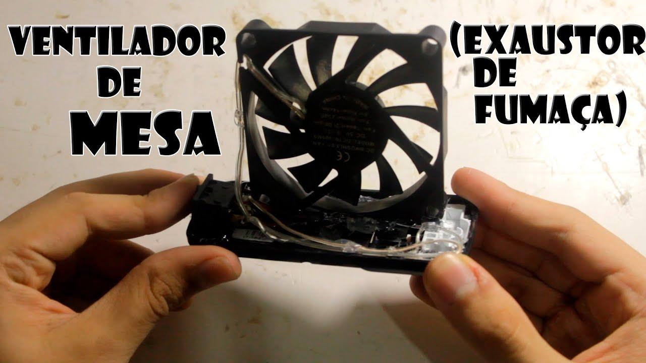 Como fazer ventilador de mesa (Exaustor de fumaça)   #AE5018 1920x1080