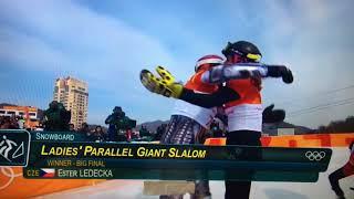 Ester Ledecka Gold medal winner full video HD