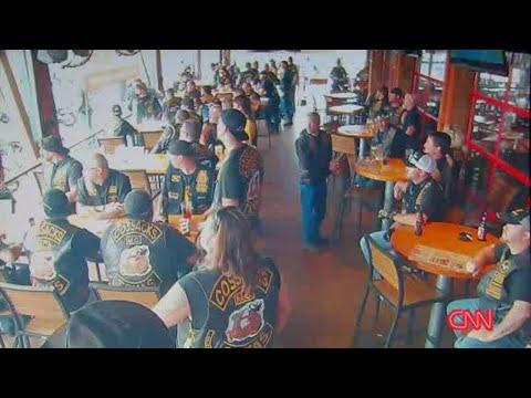 Surveillance video shows Waco biker shooting