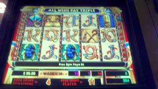 Cleopatra Slot machine free spin bonus $1 High limit