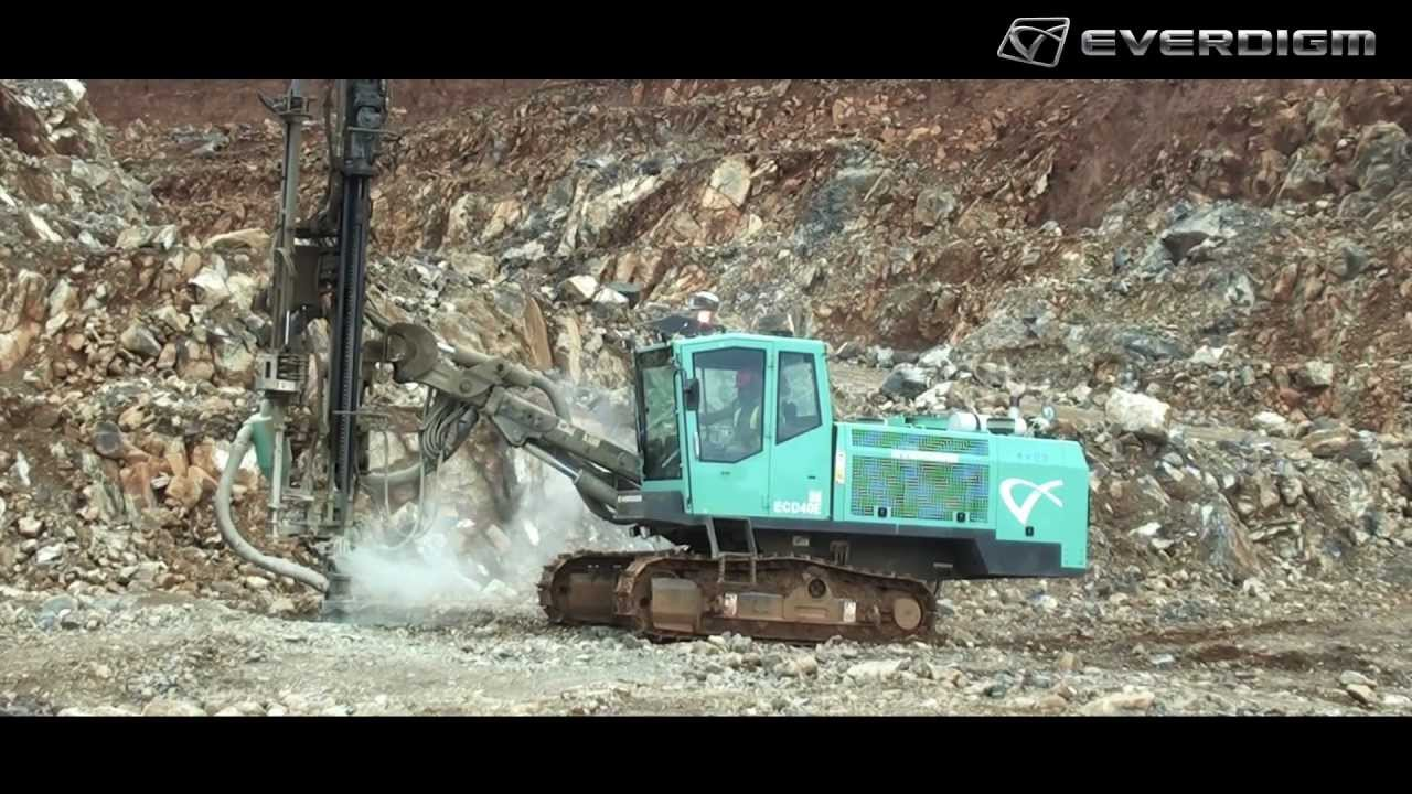 Everdigm Ecd40e Top Hammer Drill Rig Youtube