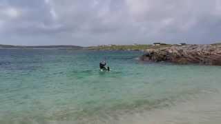 Clifden ecoBeach Camping Connemara Sept. 2015 - 'Kite Surfing' on the Wild Atlantic Way Connemara