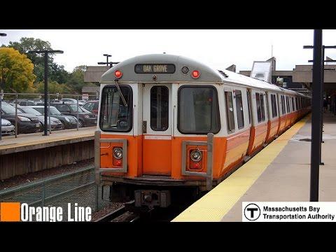 MBTA: 01200 Series (Orange Line) Train arriving at Downtown Crossing Station
