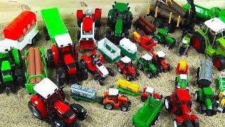 Buntes Spielzeug für Kinder, Traktoren, Dickie, Toys, Lego, Lego Duplo, Film für Kinder, Unboxing