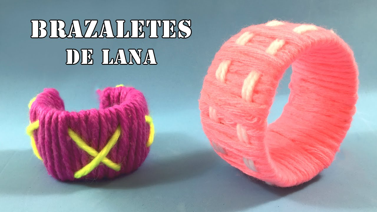 Brazaletes de lana manualidades de reciclaje para ni os for Manualidades para ninos con lana