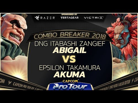 DNG Itabashi Zangief vs Epsilon Takamura - Combo Breaker 2018 Pools - Day 1 - CPT 2018
