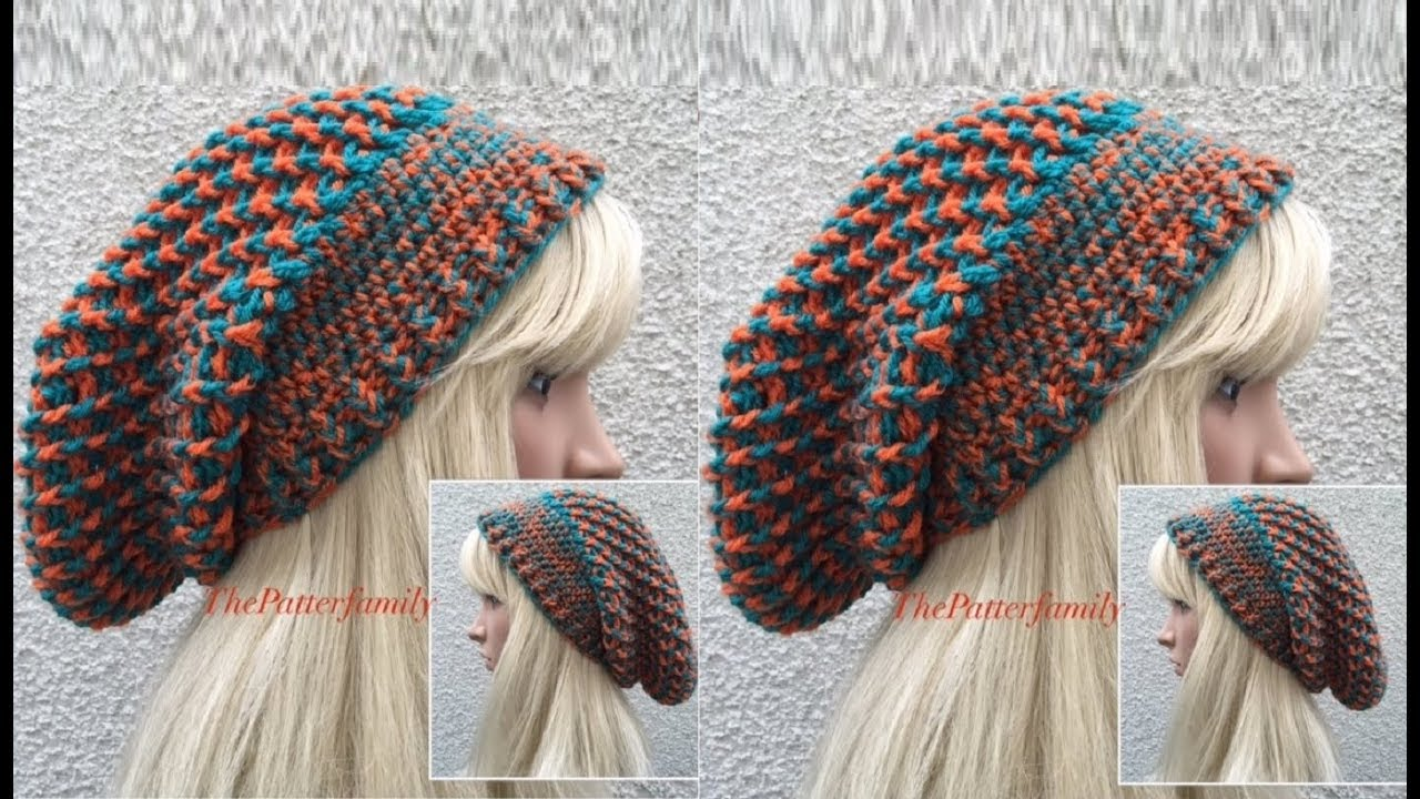d877bf62969 How To Crochet a Slouchy Hat Pattern  345│by ThePatternFamily - YouTube