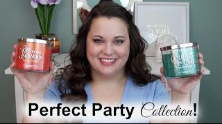 """Bath & Body Works """"Perfect Party"""" Candle Haul!"""