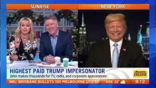Donald Trump impersonator John Di Domenico on Australia's Sunrise Live