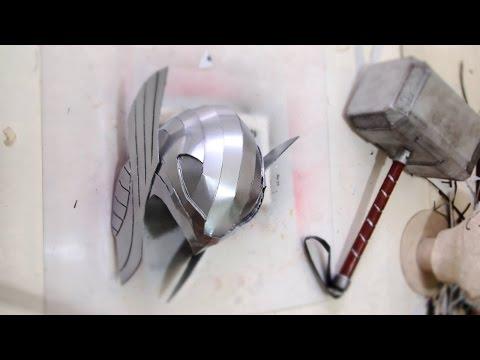 #96: Thor Helmet - Cardboard (free PDF) Cosplay How to DIY