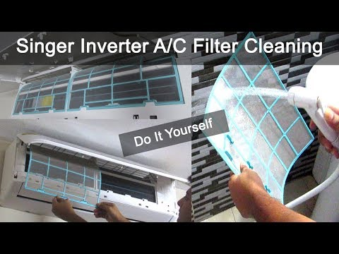 How To Clean Split Air Conditioner Filter | Do It Yourself | Singer Inverter Air Conditioner