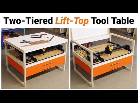 Good Looking Shop Furniture V.1 - Lift Top Tool Table