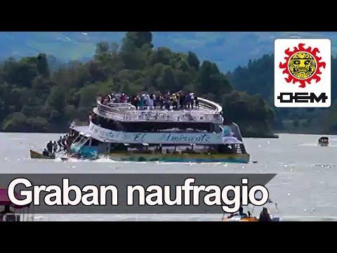 Momento exacto del hundimiento de barco en Colombia / OEM