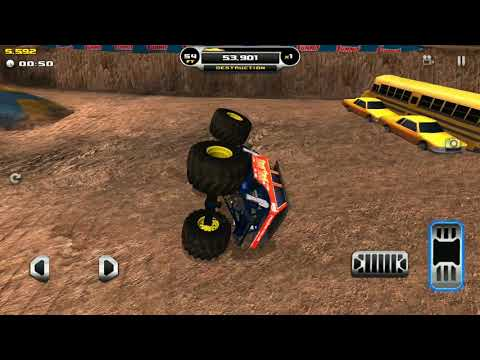 Game. Truck monster. Train truck race |