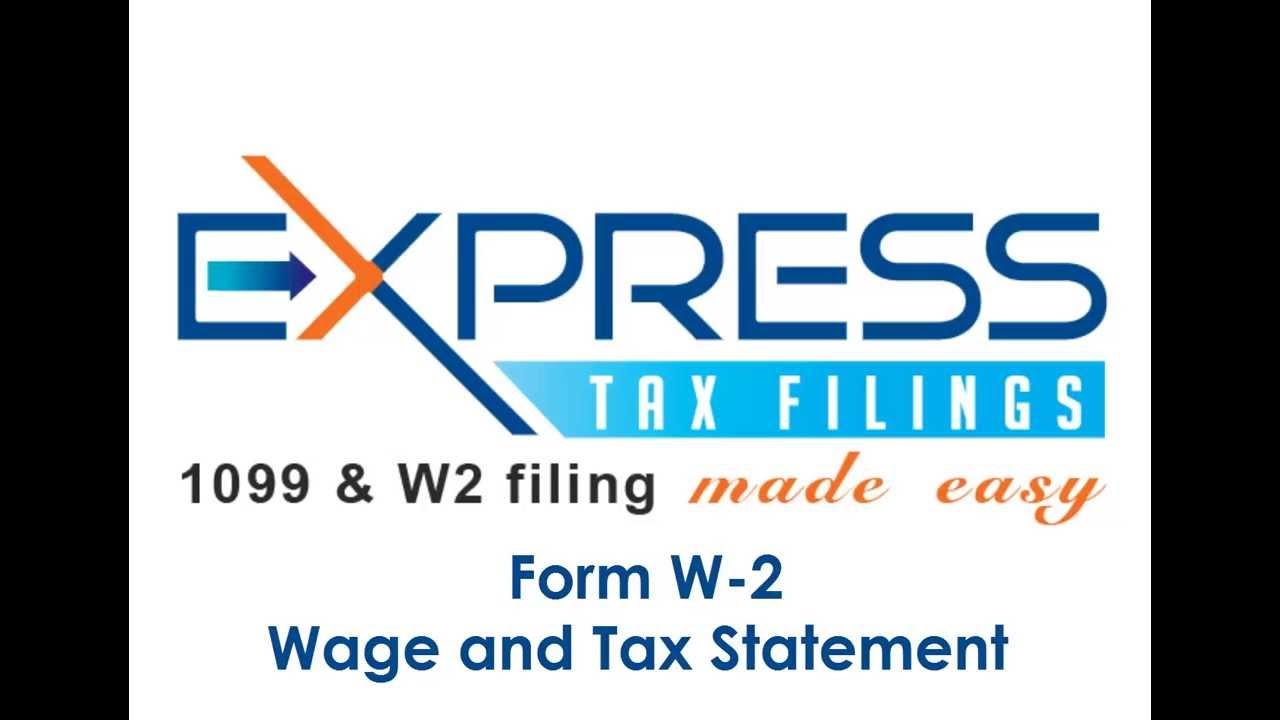 Form W-2, Wage and Tax Statement - YouTube