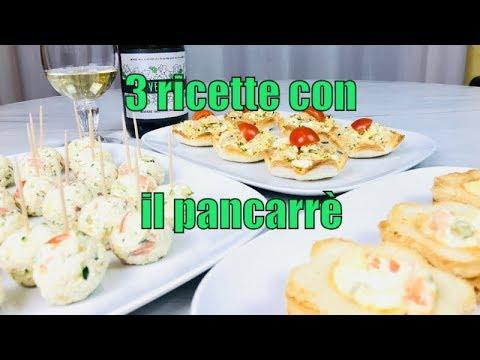 3 RICETTE FACILI CON IL PANCARRE - 3 recipes with sandwich bread