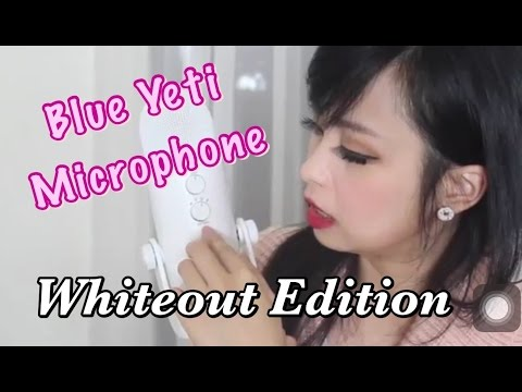 ♥Blue Yeti Whiteout♥ USB Microphone Unboxing Review