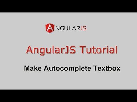 AngularJS Tutorial - Make Autocomplete Textbox