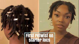 First Retwist On 4c Starter Locs | Naomi Onlae