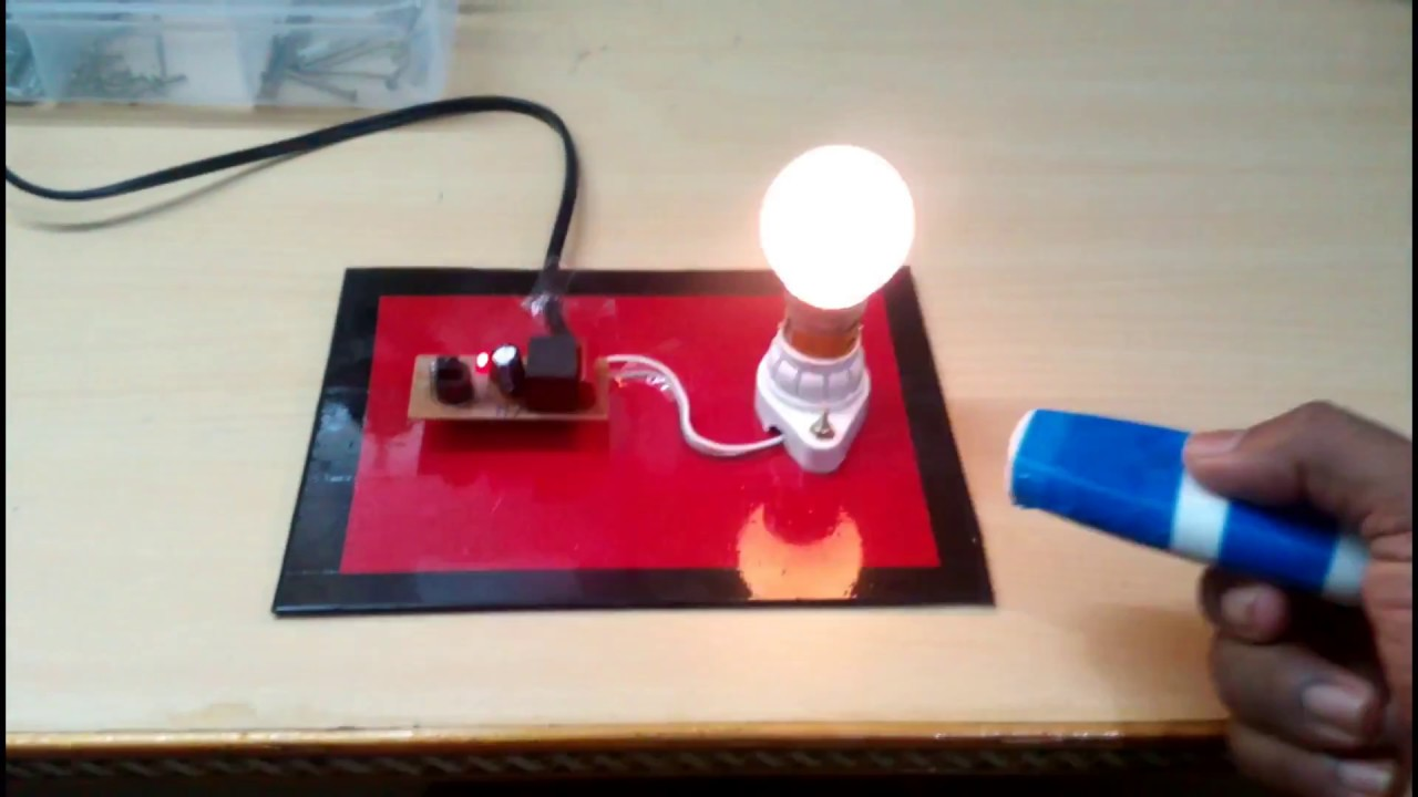 Remote Control Light Bulb Switch ♦ ECE EEE Mini Project ♦ School Science  Project