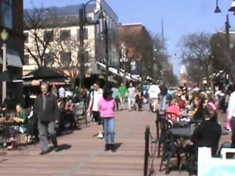 A Spring Day in Burlington, Vermont - Church Street and Lake Champlain
