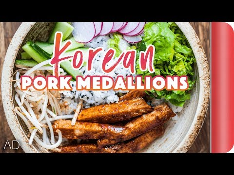 Korean Pork Medallions Rice Bowl Recipe