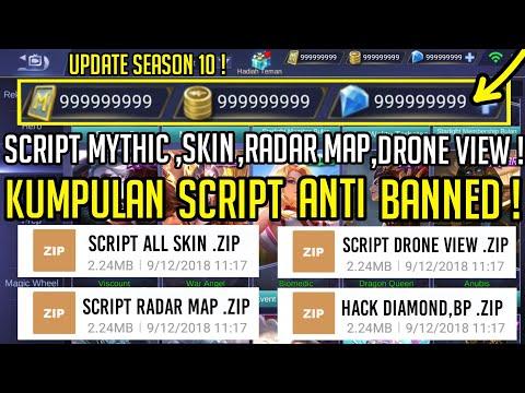 FULL! Kumpulan Script Skin, Rank Mythic, Radar Map, Drone Wiew Mobile Legend Terbaru !!
