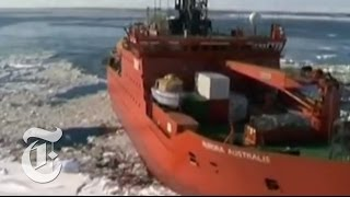Times Minute 12/31/13 | Rescuing a Stranded Ship in Antarctic Ice | The New York Times