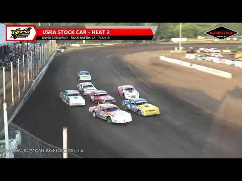 Stock Car Heats - Rapid Speedway - 7/12/19