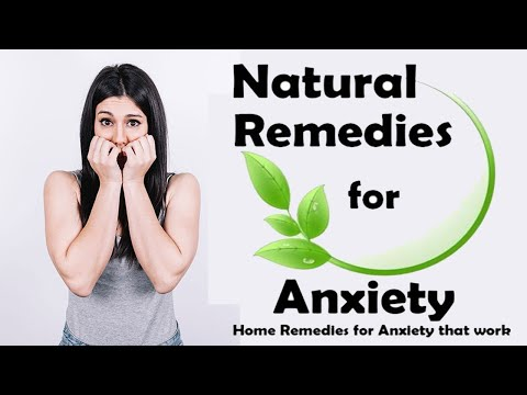 My Natural Remedies For Anxiety