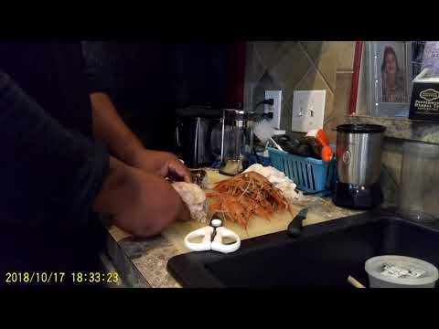 How to prepare and clean shrimp and lobster tails.