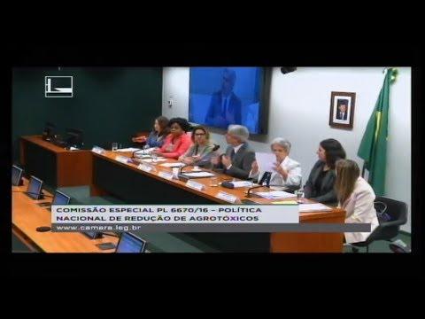 PL 6670/16 - POLÍTICA NACIONAL REDUÇÃO AGROTÓXICOS - Saúde e meio ambiente - 26/06/2018 - 15:11