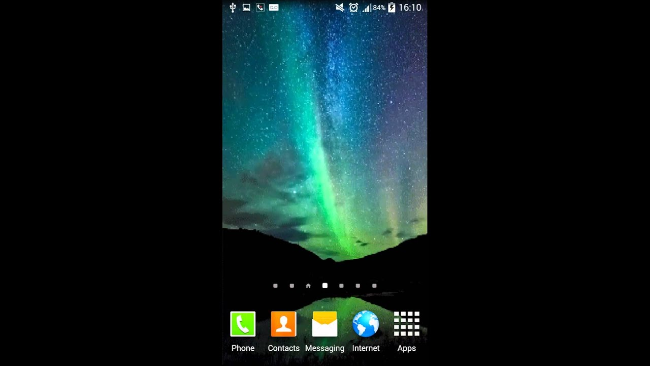 Aurora live wallpaper - YouTube
