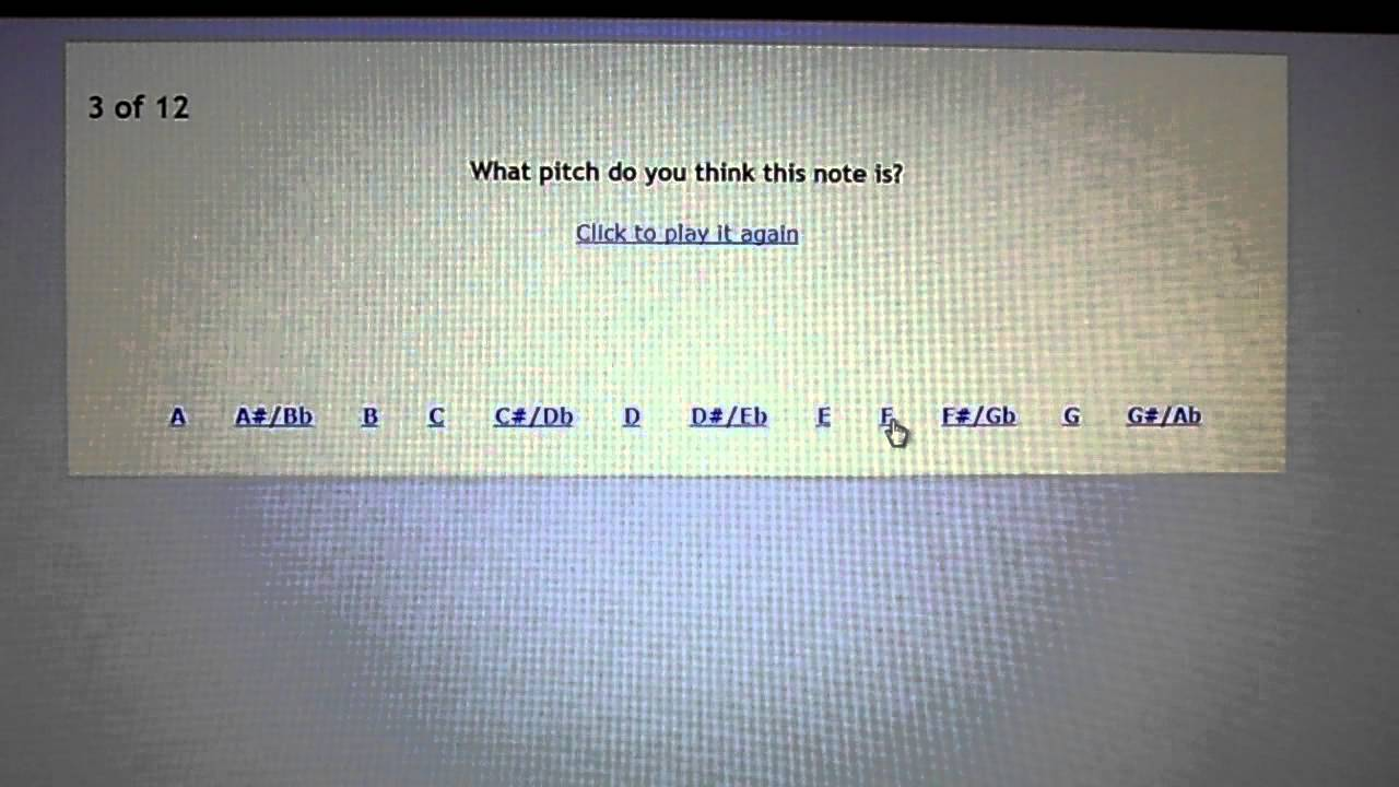 Perfect Pitch Test >> Perfect Pitch Test Youtube