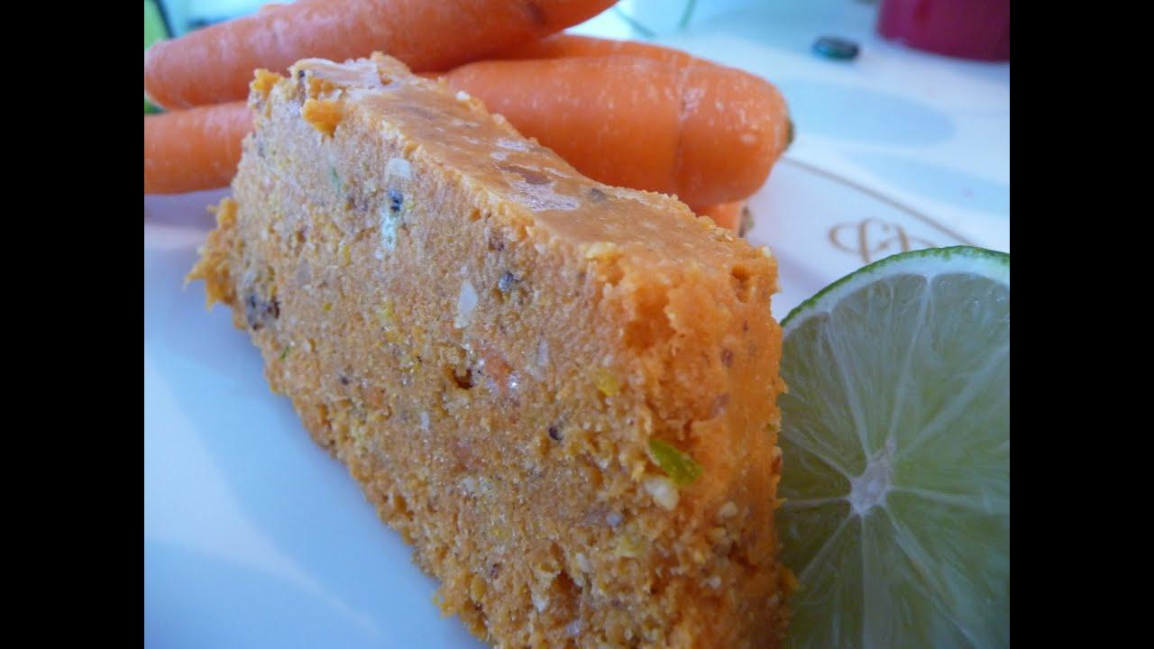 Gateau a la carotte cru