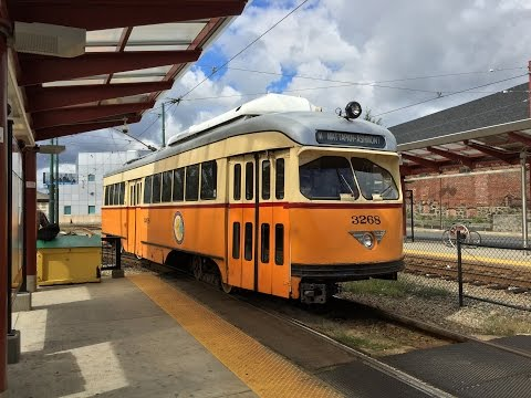 MBTA HD 60 FPS: Riding PCC Streetcar 3268 on Ashmont–Mattapan High Speed Line (9/15/16)