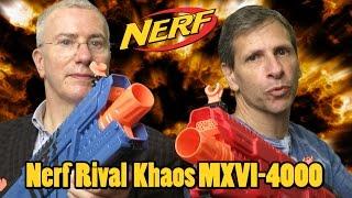 Nerf Rival Khaos MXVI-4000 Blaster Team Red & Blue [Review & Instructions] | Hasbro