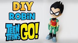 DIY: Como Fazer ROBIN Os Jovens Titãs em Ação | TEEN TITANS GO!