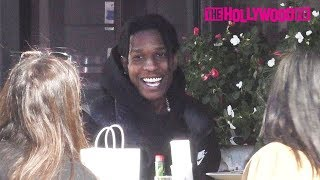 ASAP Rocky Flirts With An Entire Table Of Women While Stepping Out For Lunch Without Rihanna 2.3.20