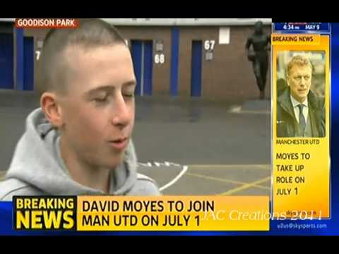 Everton Fan Reaction To David Moyes Leaving The Club To Be The New Man United Manager