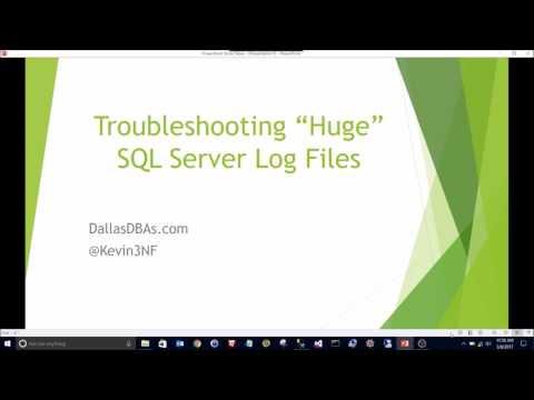 SQL Server Log File is HUGE!