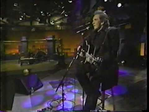 "Johnny Cash sings ""Bird on a Wire"" on Jon Stewart's old show"