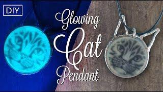 583ec41c0 DIY Resin glow CAT pendant - Resin jewelry