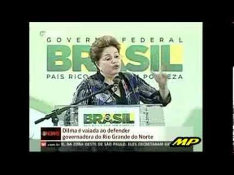 """Dilma é vaiada no Rio Grande do Norte... """"Isso é feio""""... ahahaha"""
