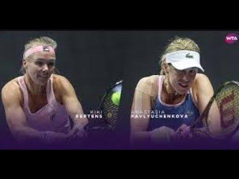Anastasia Pavlyuchenkova Vs Kiki Bertens  Live Streaming - WTA Tokyo, Japan, September 19, 10:30