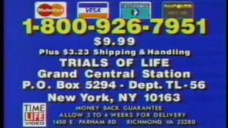 1992 Time Life Books - Trials of Life Series on VHS Commercial