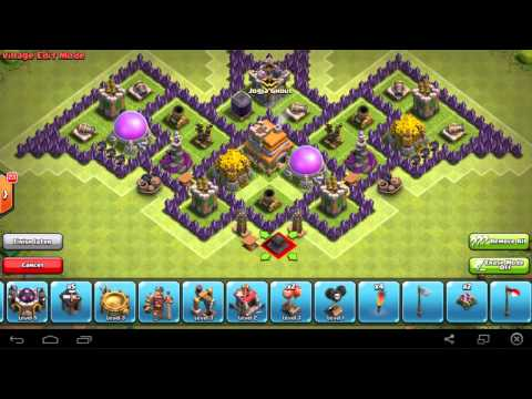 Clash Of Clans - Town Hall 7 Hybrid Base (Berbentuk Kelelawar)