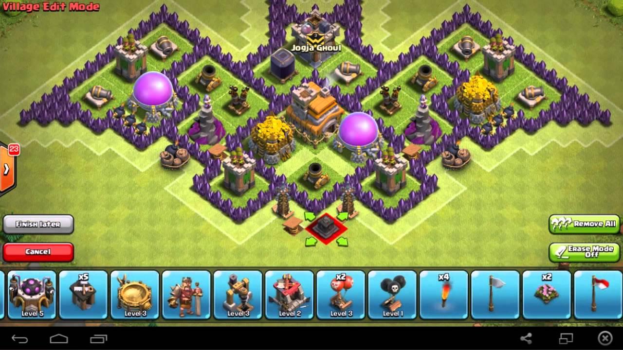 Base Coc Th 7 Bentuk Tengkorak 5