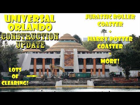 Universal Orlando Resort Jurassic / Potter Coaster Construction Update 2.18.19 Lots Of Clearing!